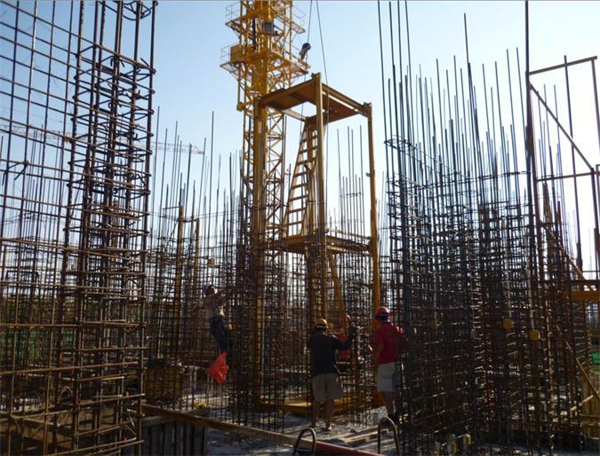 高层建筑电梯井钢结构施工